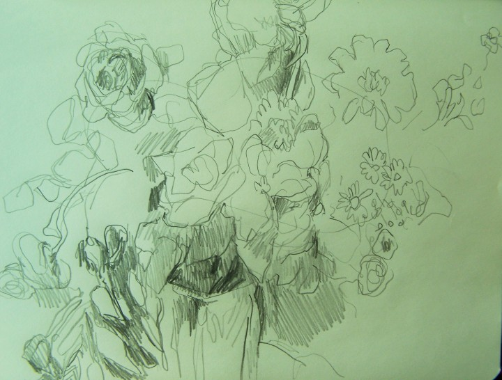 flowers drawing upper first