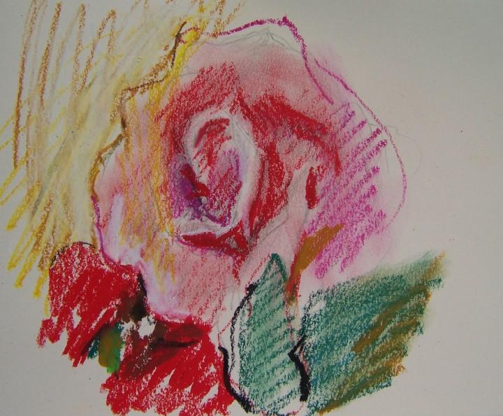 rose oil pastel